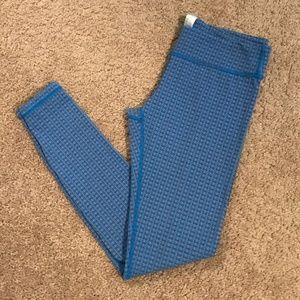 Ivivva Girls Size 14 Leggings Blue Print